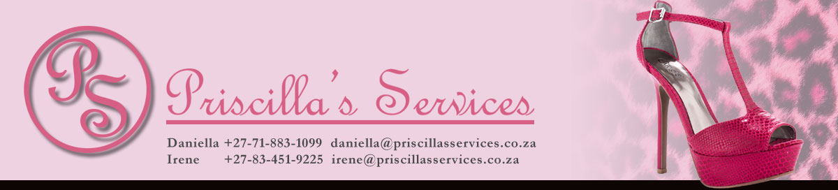 Our new Priscilla's Services banner.